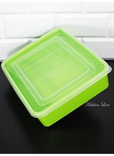Kitchen Love Renkli 2,5Lt Kapaklı Saklama Kabı Yeşil